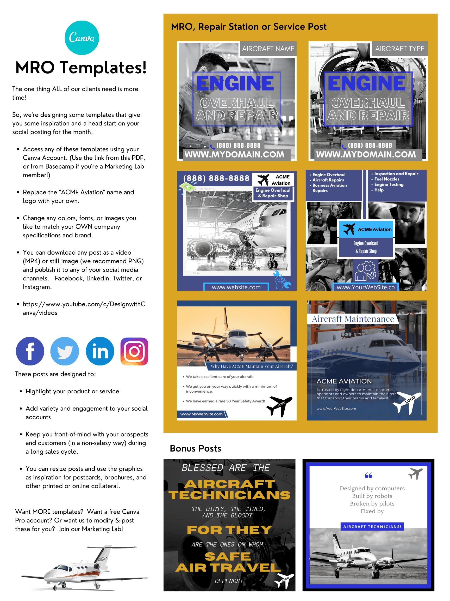 MRO Template Bundle Sheet